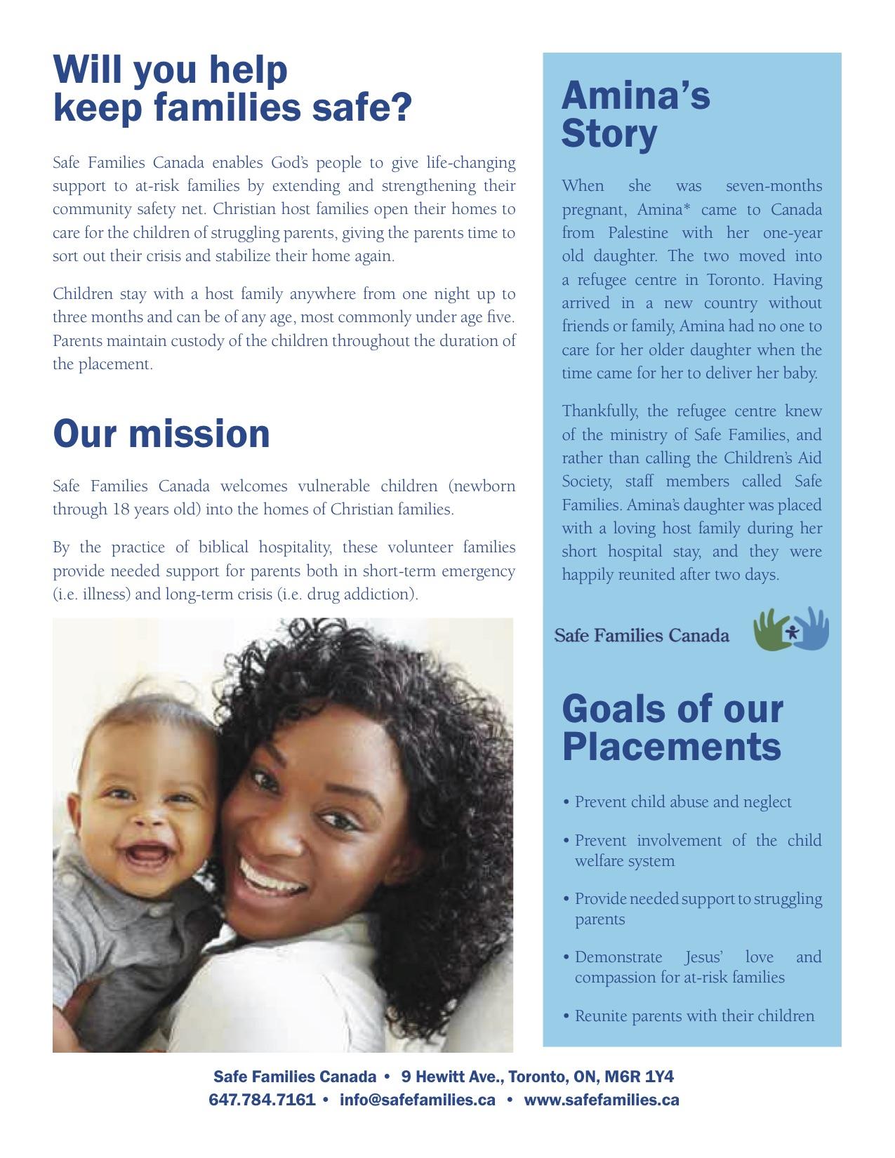 Safe Families Pamphlet